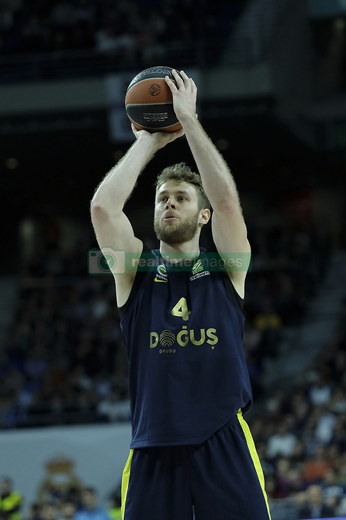 March 2, 2018 - Madrid, Madrid, Spain - MELLI  NICOLO of Fenerbahce Dogus in action  during the Turkish Airlines Euroleague basketball match between Real Madrid and Fenerbahce Dogus at the Wizink Center in Madrid, Spain on March 2, 2018. Photo: Oscar Gonzalez/NurPhoto  (Credit Image: © Oscar Gonzalez/NurPhoto via ZUMA Press)