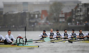 Putney, GREAT BRITAIN,  Oxford [right] start to take a lead over Cambridge during the  2008 Boat Race,  Oxford vs Cambridge raced over the 'Championship Course' Putney to Mortlake, on the River Thames, Sat 29.03.2008 [Mandatory Credit, Peter Spurrier / Intersport-images Varsity Boat Race, Rowing Course: River Thames, Championship course, Putney to Mortlake 4.25 Miles,
