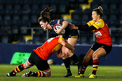 Megan Varley of Worcester Warriors Women is tackled by Fiona McIntosh of Richmond Women - Mandatory by-line: Robbie Stephenson/JMP - 11/01/2020 - RUGBY - Sixways Stadium - Worcester, England - Worcester Warriors Women v Richmond Women - Tyrrells Premier 15s