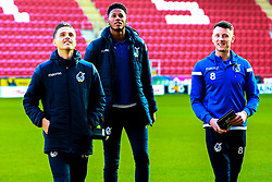 Bristol Rovers players inspect the pitch at the Aesseal New York Stadium - Mandatory by-line: Ryan Crockett/JMP - 18/01/2020 - FOOTBALL - Aesseal New York Stadium - Rotherham, England - Rotherham United v Bristol Rovers - Sky Bet League One