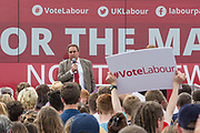 David Drew, Labour candidate for Stroud during the Labour Party Election Campaign at the New Lawn, Forest Green, United Kingdom on 31 May 2017. Photo by Shane Healey.