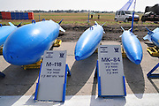 Israel, Tel Nof IAF Base, An Israeli Air force (IAF) exhibition Air to Ground Bombs