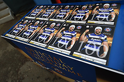 Programmes ready for sale at the Recreation Ground - Photo mandatory by-line: Paul Knight/JMP - Mobile: 07966 386802 - 10/01/2015 - SPORT - Rugby - Bath - The Recreation Ground - Bath Rugby v Wasps - Aviva Premiership