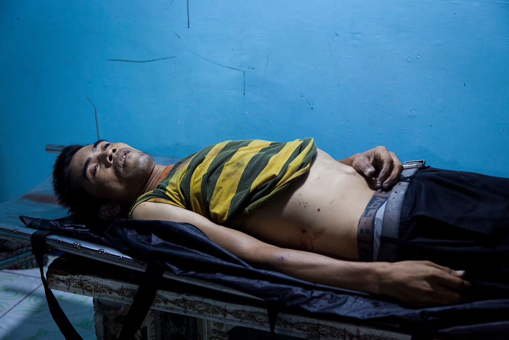 "The body of Hovert ""Kosa"" Bulaclac is seen at Eusebio morgue. He was killed because he was a drug user."