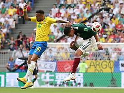 July 2, 2018 - Samara, Russia - July 2, 2018, Russia, Samara, FIFA World Cup 2018, 1/8 finals. Football match of Brazil - Mexico at the stadium Samara - Arena. Player of the national team Neimar  (Credit Image: © Russian Look via ZUMA Wire)