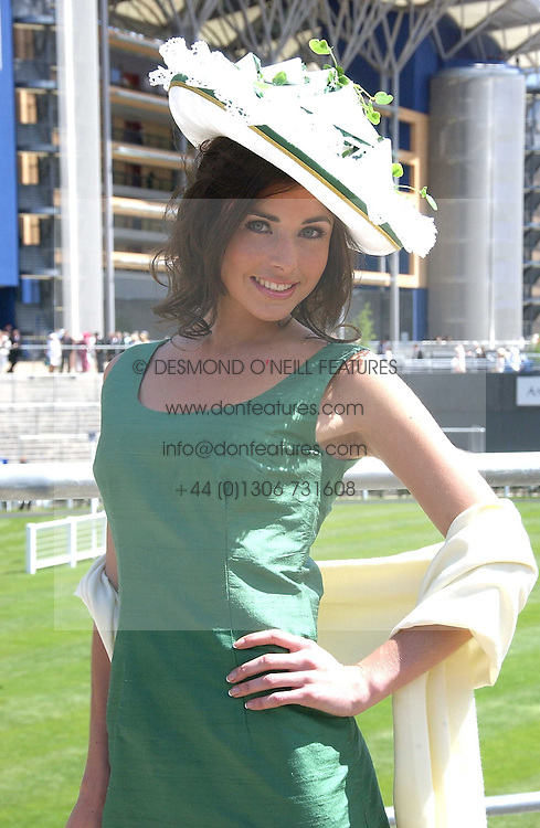 RACHEL LITTLEJOHNS at the 3rd day - Ladies Day of Roayl Ascot 2006 on 22nd June 2006.<br /><br />NON EXCLUSIVE - WORLD RIGHTS