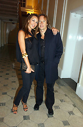 TAMARA MELLON and JOHN HITCHCOX at The Hospital Awards - to honour talent in the creative industry, held at 9 Grosvenor Place, London on 3rd october 2006.<br /><br />NON EXCLUSIVE - WORLD RIGHTS