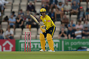 Lewis McManus of Hampshire batting during the Vitality T20 Blast South Group match between Hampshire County Cricket Club and Middlesex County Cricket Club at the Ageas Bowl, Southampton, United Kingdom on 20 July 2018. Picture by Dave Vokes.