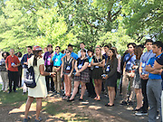 HISD students and other attendees at the 2016 Democracy in Action Seminar in Washington, D.C., visit Arlington Cemetery.