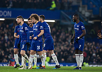 Football - 2018 / 2019 EFL Carabao Cup (League Cup) - Semi-Final, Second Leg: Chelsea (0) vs. Tottenham Hotspur (1)<br /> <br /> Anxious Chelsea players await their penalty kicks at Stamford Bridge <br /> <br /> COLORSPORT/DANIEL BEARHAM