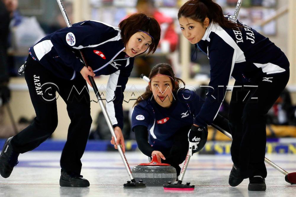 Japanese Women's Team, from left Chiaki MATSUMURA,  Emi SHIMIZU and Miyo ICHIKAWA