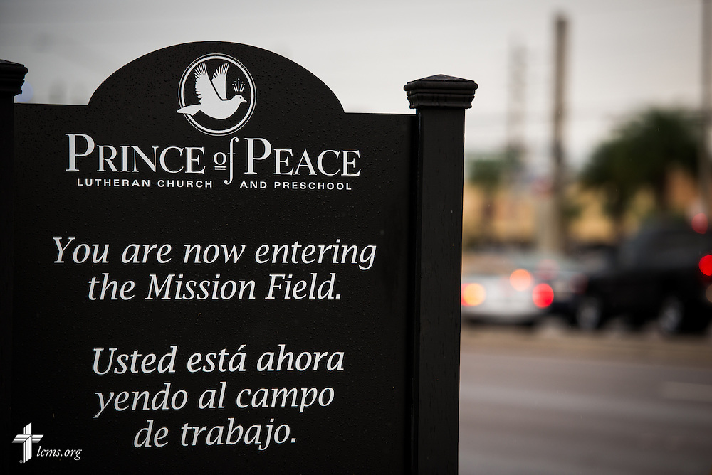 A sign leaving Prince of Peace Lutheran Church in Orlando, Fla., on Sunday, Sept. 13, 2015. LCMS Communications/Erik M. Lunsford