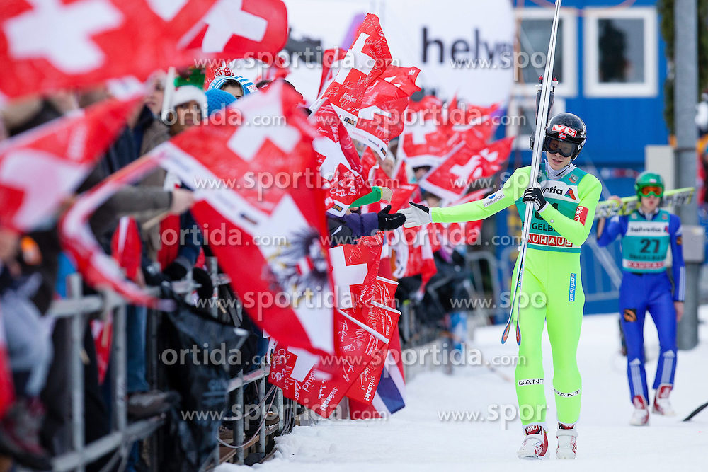 22.12.2013, Gross Titlis Schanze, Engelberg, SUI, FIS Ski Jumping, Engelberg, Herren, im Bild Robert Johannson (NOR) // during mens FIS Ski Jumping world cup at the Gross Titlis Schanze in Engelberg, Switzerland on 2013/12/22. EXPA Pictures &copy; 2013, PhotoCredit: EXPA/ Eibner-Pressefoto/ Socher<br /> <br /> *****ATTENTION - OUT of GER*****