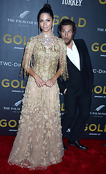 Matthew McConaughey and Camila Alves attending the world premiere of Gold at the AMC Lincoln Square Cinemas in New York City, NY, USA, on January 17, 2017. Photo by Dennis Van Tine/ABACAPRESS.COM  | 578473_001 New York City Etats-Unis United States