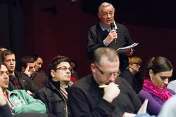 Dr. Mik Pavlovic na okrogli mizi na temo KK Union Olimpija v organizaciji drustva Sportforum Slovenija, on February 20, 2012 in Mercurius Arena, BTC, Ljubljana, Slovenia. (Photo By Vid Ponikvar / Sportida.com)