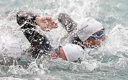 04.07.2010, Klagenfurt, AUT, Feature, im Bild Massenstart beim Schwimmen des Ironman Kaernten, EXPA Pictures © 2012, PhotoCredit: EXPA/ Erwin Scheriau