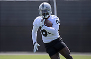May 28, 2019; Alameda, CA,  USA; Oakland Raiders receiver Antonio Brown (84) during organized team activities at the Raiders practice facility.