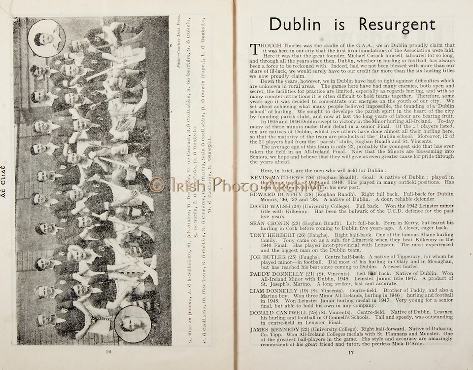 All Ireland Senior Hurling Championship Final,.Brochures,.05.09.1948, 09.05.1948, 5th September 1948, .Waterford 6-7, Dublin 4-2, .Minor Kilkenny v Waterford, .Senior Dublin v Waterford, .Croke Park, ..Articles, Dublin is Resurgent,