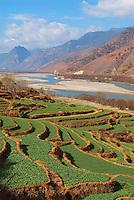 Chine. Province du Yunnan. Le Yangtze. // China. Yunnan province. Yangtze River.