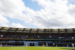 General view during day one of the Ashes Test match at The Gabba, Brisbane.