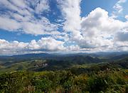 Laos, Luang Prabang Province. Mountains near Phou Khoun.