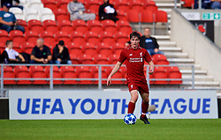LIVERPOOL, ENGLAND - Tuesday, September 18, 2018: Liverpool's Liam Coyle during the UEFA Youth League Group C match between Liverpool FC and Paris Saint-Germain at Langtree Park. (Pic by David Rawcliffe/Propaganda)