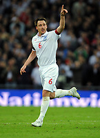 John Terry Celebrates Scoring 2nd goal<br /> England 2008/09<br /> England V Ukraine (2-1) 01/04/09 World Cup Qualifier at Wembley Stadium <br /> Photo Robin Parker Fotosports International