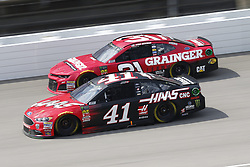 August 12, 2018 - Brooklyn, Michigan, United States of America - Kurt Busch (41) and Ryan Newman (31) battle for position during the Consumers Energy 400 at Michigan International Speedway in Brooklyn, Michigan. (Credit Image: © Chris Owens Asp Inc/ASP via ZUMA Wire)