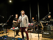 Duran Duran during rehearsal, Tuesday, June 19, 2012, in New York, a day before the Trident See What Unfolds live concert.  (Photo by Diane Bondareff/Invision for TridentAP Images)