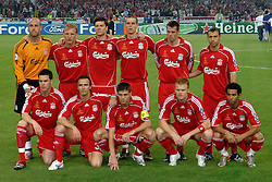 Liverpool Team Group 2006/07.AC Milan V Liverpool (2-1) 23/05/07 .The UEFA Champions League Final .at the Olympic Stadium in Athens.