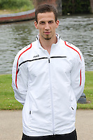 Kortrijk's physical coach Yoran Vanhoutte poses for the photographer during the 2014-2015 season photo shoot of Belgian first league soccer team KV Kortrijk, Tuesday 08 July 2014 in Kortrijk.