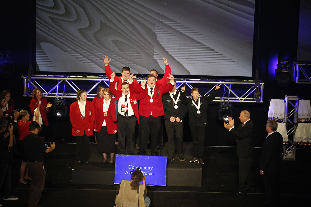 The 2017 SkillsUSA National Leadership and Skills Conference Competition Medalists were announced Friday, June 23, 2017 at Freedom Hall in Louisville. <br /> <br /> Community Action Project<br /> <br /> 	Team H (consisting of Brian Courtney Jr, Collin Kelly)<br />   High School	 Minuteman RHS<br />   Gold	 Lexington, MA<br /> Community Action Project	Team I (consisting of Carson craig, Pierce Kurasz)<br />   High School	 Sabin-Schellenberg Center<br />   Silver	 Milwaukie, OR<br /> Community Action Project	Team K (consisting of Sadie Buckingham, Kali Smith)<br />   High School	 H G Sackett Tech Center<br />   Bronze	 Glenfield, NY<br /> Community Action Project	Team A (consisting of Justin Ford, Jacob Ames)<br />   College	 Central Technology Center-Drumright<br />   Gold	 Drumright, OK