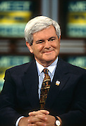 Speaker Newt Gingrich on NBC's Meet the Press September 15, 1996 in Washington, DC.