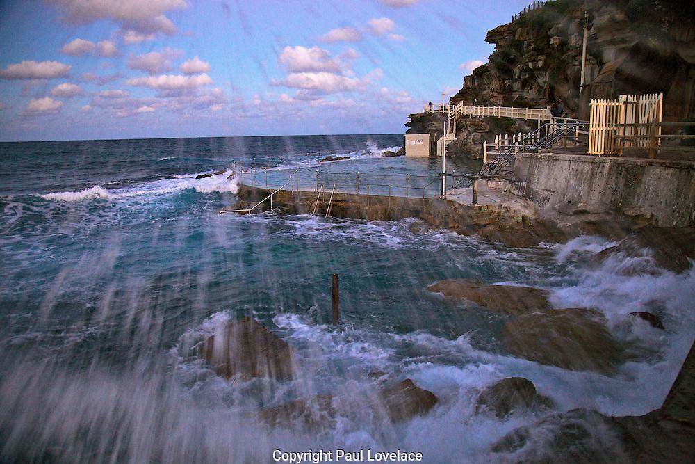 Seaspray late afternoon, Bronte Baths, Sydney, Australia