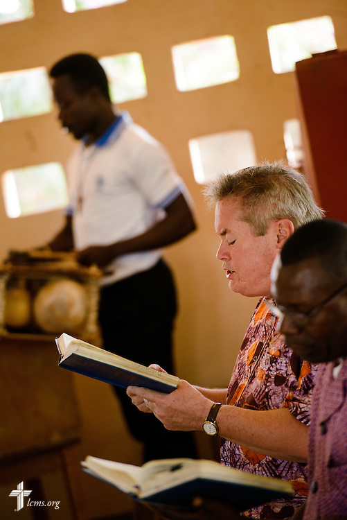 The Rev. Fred Reinhardt, area facilitator for Francophone Africa-West and Central, sings during Vespers at the Lutheran Center for Theological Studies (CLET) on Tuesday, Feb. 14, 2017, in Dapaong, Togo. LCMS Communications/Erik M. Lunsford