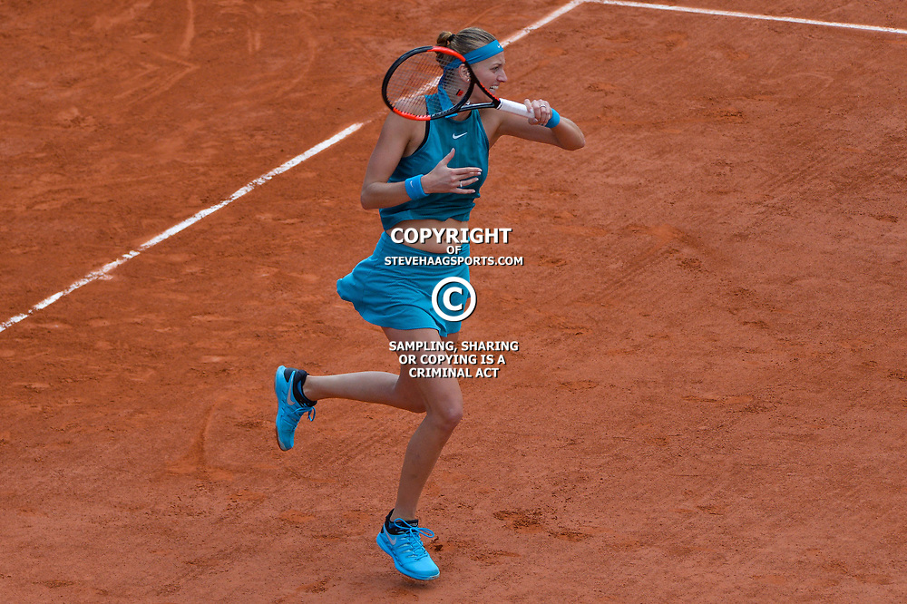 Petra Kvitova of Czech Republic during Day 7 of the French Open 2018 on June 2, 2018 in Paris, France. (Photo by Baptiste Fernandez/Icon Sport)
