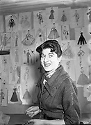 Miss Hilda Larkin, Teacher at the Grafton Academy of Dress Design<br /> 26/11/1954