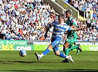 © Andrew Fosker / Richard Lane Photography 2010 - Shane Long nails Reading's fifth goal of the game - Mark Little  is right -  Reading v Peterborough - Coca-Cola Championship - 17/04/2010 - Madejski Stadium - Reading - UK.