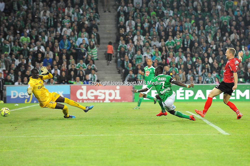 But Max Alain GRADEL - 23.05.2015 - Saint Etienne / Guingamp - 38e journee Ligue 1<br />Photo : Jean Paul Thomas / Icon Sport