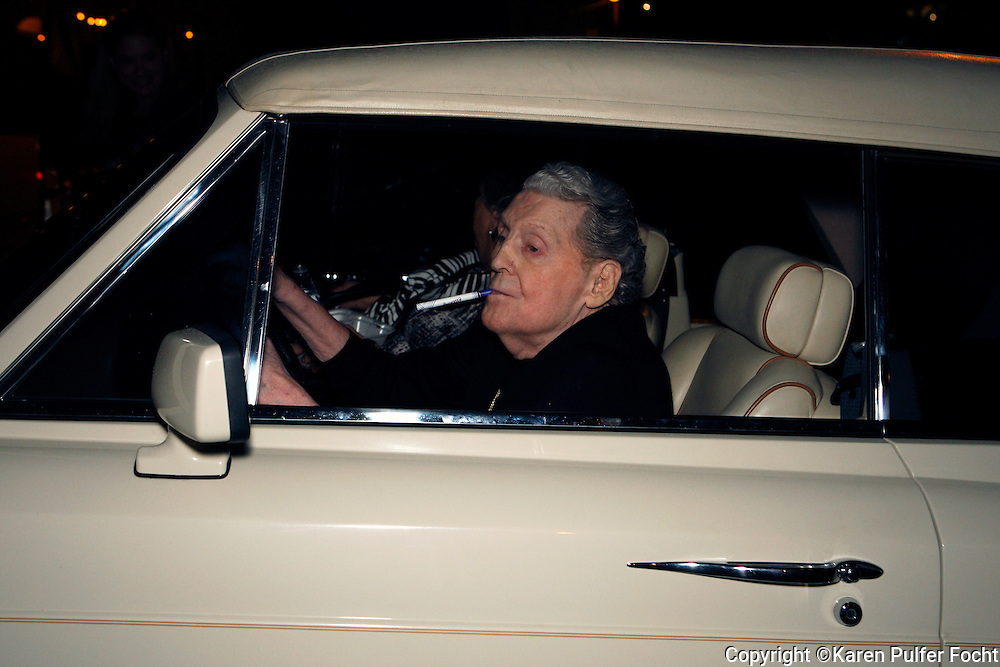 JERRY LEE LEWIS leaves his 80th Birthday Celebration at the Jerry Lee Lewis Cafe and Honky Tonk on Beale Street, in Memphis on Saturday night. He was driving himself, in his Rolls Royce and was with his 7th wife, Judith Brown. His birthday is September 29th.