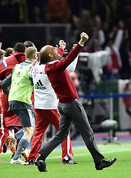 17.05.2014, Olympiastadion, Berlin, GER, DFB Pokal, Borussia Dortmund vs FC Bayern Muenchen, Finale, im Bild Jubel, Feier, Freude, Emotionen nach Pokalsieg 2:0 fuer Bayern bei Trainer Josep Pep Guardiola FC Bayern Muenchen // during the mens DFB Pokal final match between Borussia Dortmund and FC Bayern Munich at the Olympiastadion in Berlin, Germany on 2014/05/17. EXPA Pictures &copy; 2014, PhotoCredit: EXPA/ Eibner-Pressefoto/ Weber<br /> <br /> *****ATTENTION - OUT of GER*****