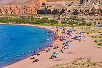 Kirghizistan, province d'Issyk Koul, lac Issyk Koul, plage de Tong // Kyrgyzstan, Issyk Kul province, Issyk Kul lake, Tong beach