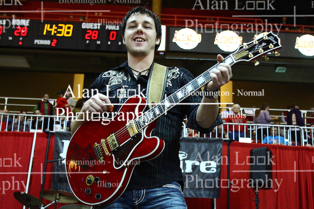 29 December 2011:  Dustin Reynolds. The BrusfhFire Band performed during an NCAA mens basketball game between the Northern Illinois Panthers and the Illinois State Redbirds in Redbird Arena, Normal IL