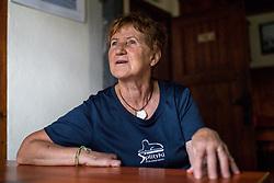 Portrait of Tonka Zadnikar, owner of Tonkina Koca, on June 27, 2018 in Vrsic, Kranjska Gora, Slovenia. Photo by Matic Klansek Velej / Sportida