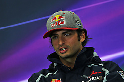 Carlos Sainz Jr (ESP) Scuderia Toro Rosso in the FIA Press Conference.<br /> 27.10.2016. Formula 1 World Championship, Rd 19, Mexican Grand Prix, Mexico City, Mexico, Preparation Day.<br /> Copyright: Photo4 / XPB Images / action press