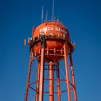 Orange Water tank tower in Beach Haven section of Long Beach Island, New Jersey.