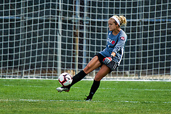 NORMAL, IL - August 10:  Bella Henderson during a nonconference exhibition women's soccer match between the Southern Illinois Edwardsville Cougars and the Illinois State Redbirds August 10 2019 on Adelaide Street Field in Normal IL (Photo by Alan Look)