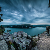 Taken from the West Bluff of Devils Lake State Park (Baraboo, WI) on September 4, 2017, at 6:12 AM.  14 minutes before sunrise.  Temp: 67°. Wind: 9 MPH.