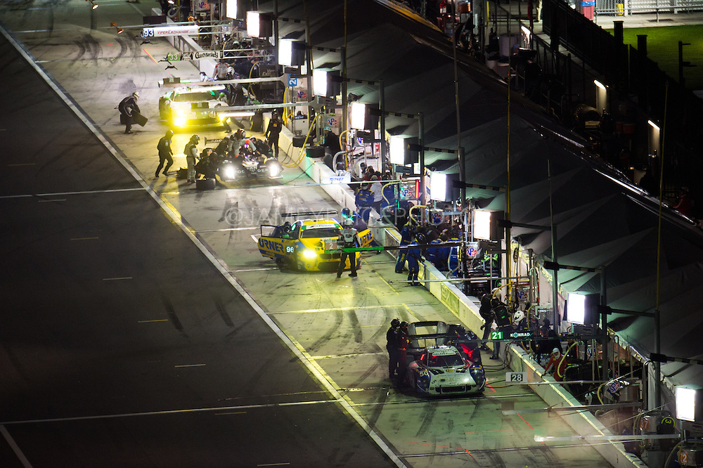 January 30-31, 2016: Daytona 24 hour: #50 Byron Defoor, Dorsey Schroeder, David Hinton, Thomas Gruber, Jim Pace, Highway to Help, Daytona Prototype, Turner Motorsport BMW M6, #33 Ben Keating, Jeroen Bleekemolen, Dominik Farnbacher, Riley Motorsports, Dodge Viper GT3-R pitstop