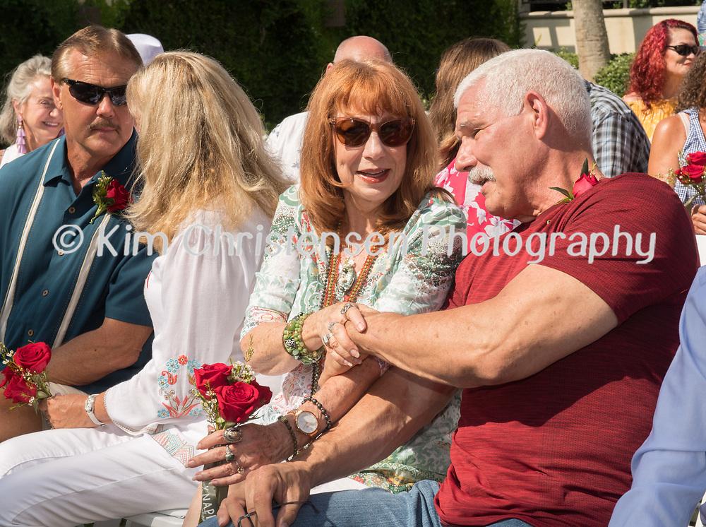 Wedding renewal ceremony at the Hotel Galvez in Galveston, TX, June 9, 2018